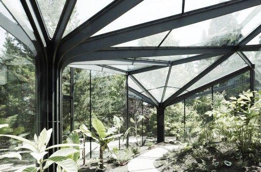 idA's Greenhouse Botanical Garden Grueningen is a Parametrically Designed Artificial Forest in Switzerland #botanicgarden