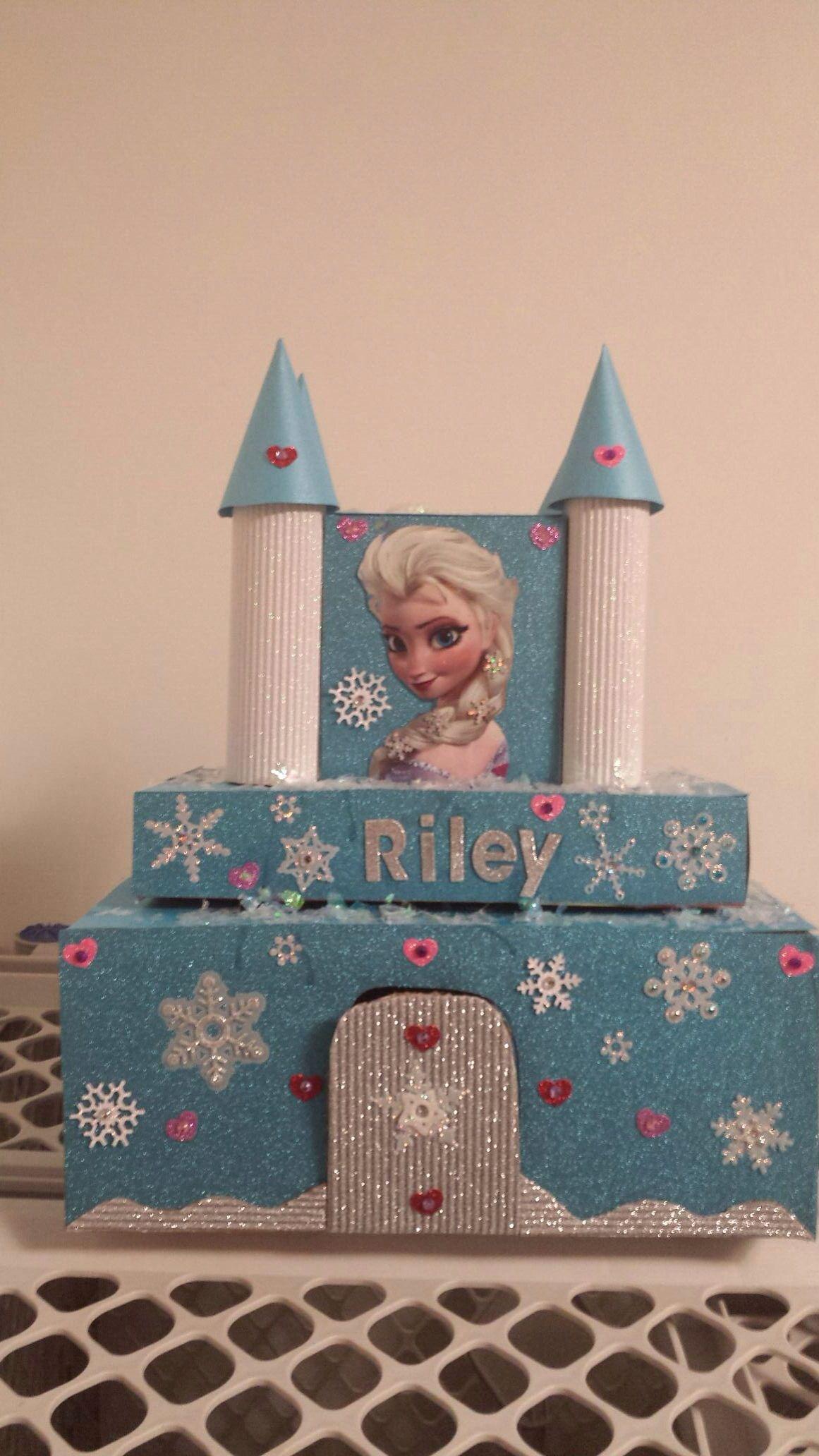 Elsa Castle Valentines Day Box Girls Valentines Boxes