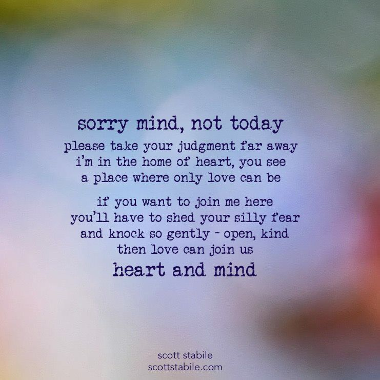 Sorry mind, not today