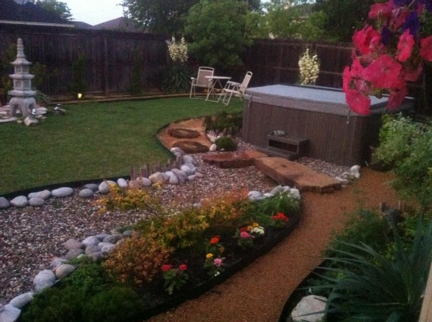 Hot tub installation 855 639 pixels for the for Outside garden design