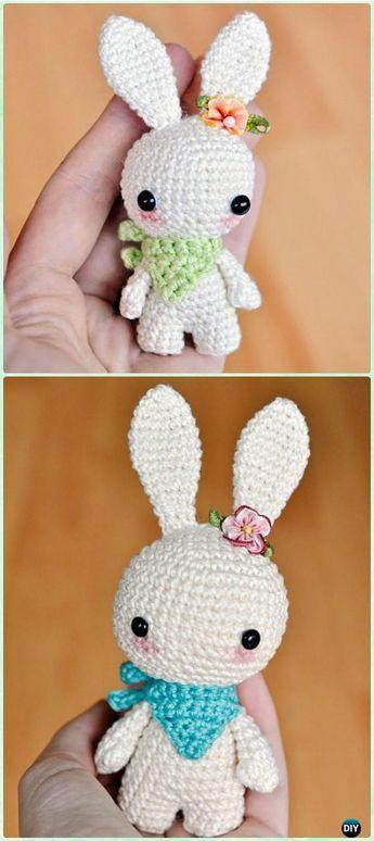 Crochet Amigurumi Bunny Toy with Neckerchief Free Patterns | Cute ...