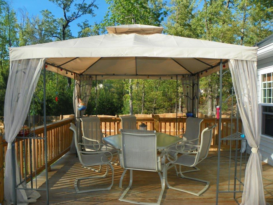 Patio Canopy Gazebo Tent With Images Backyard Gazebo Modern