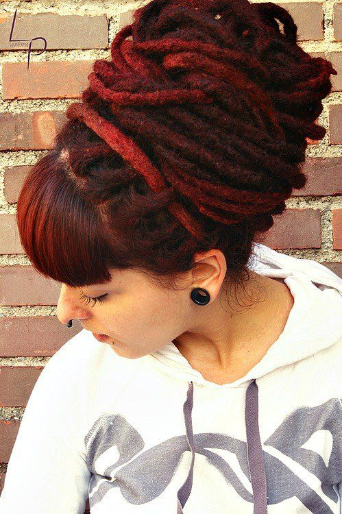 I've never had dreads probably will never but I'm liking the colour and style.