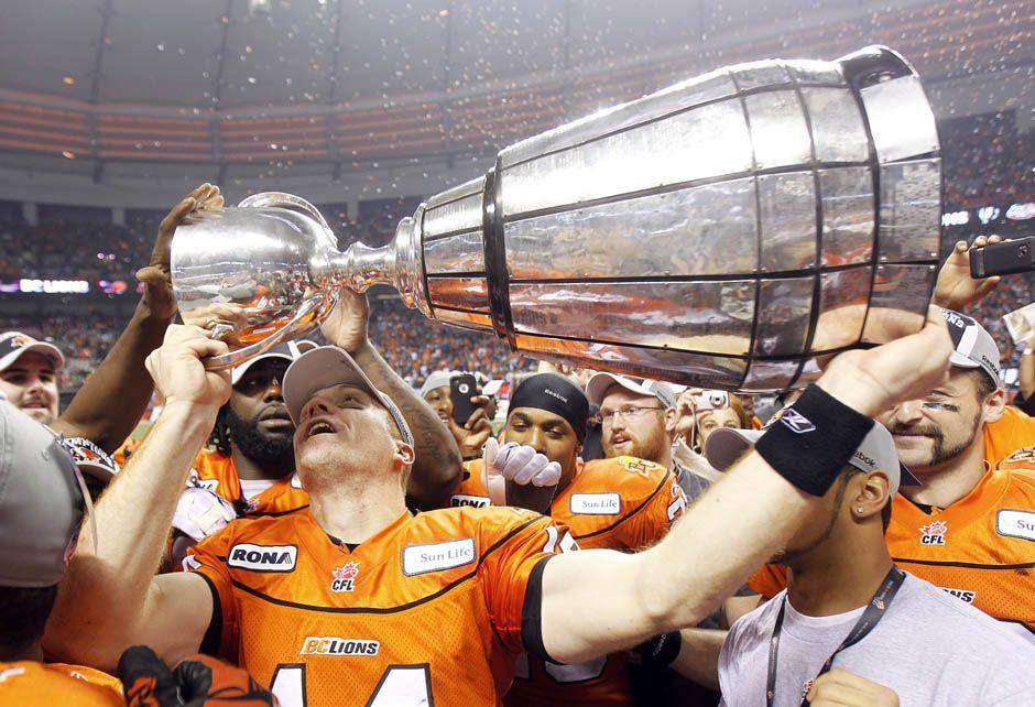 BC Lions win the Grey Cup! Woohoooooooo! Lions win