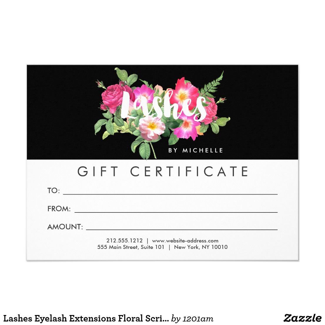 Beauty Fls Nail Salon Black Gift Certificate Card Created By Personalize It With Photos Text Or Purchase As Is
