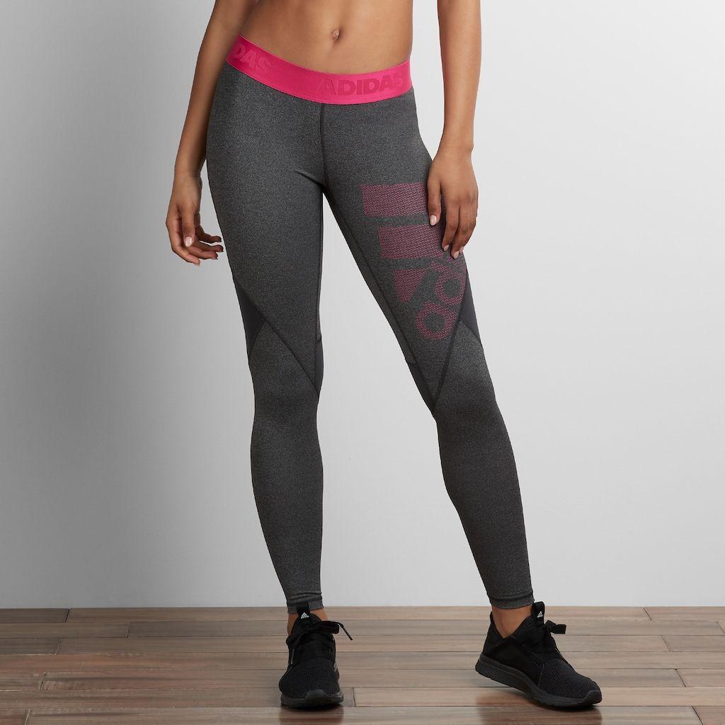 807bf7db6f192 Women's Adidas Alphaskin Sport Mid-Rise Long Leggings, Size: Medium, Dark  Grey