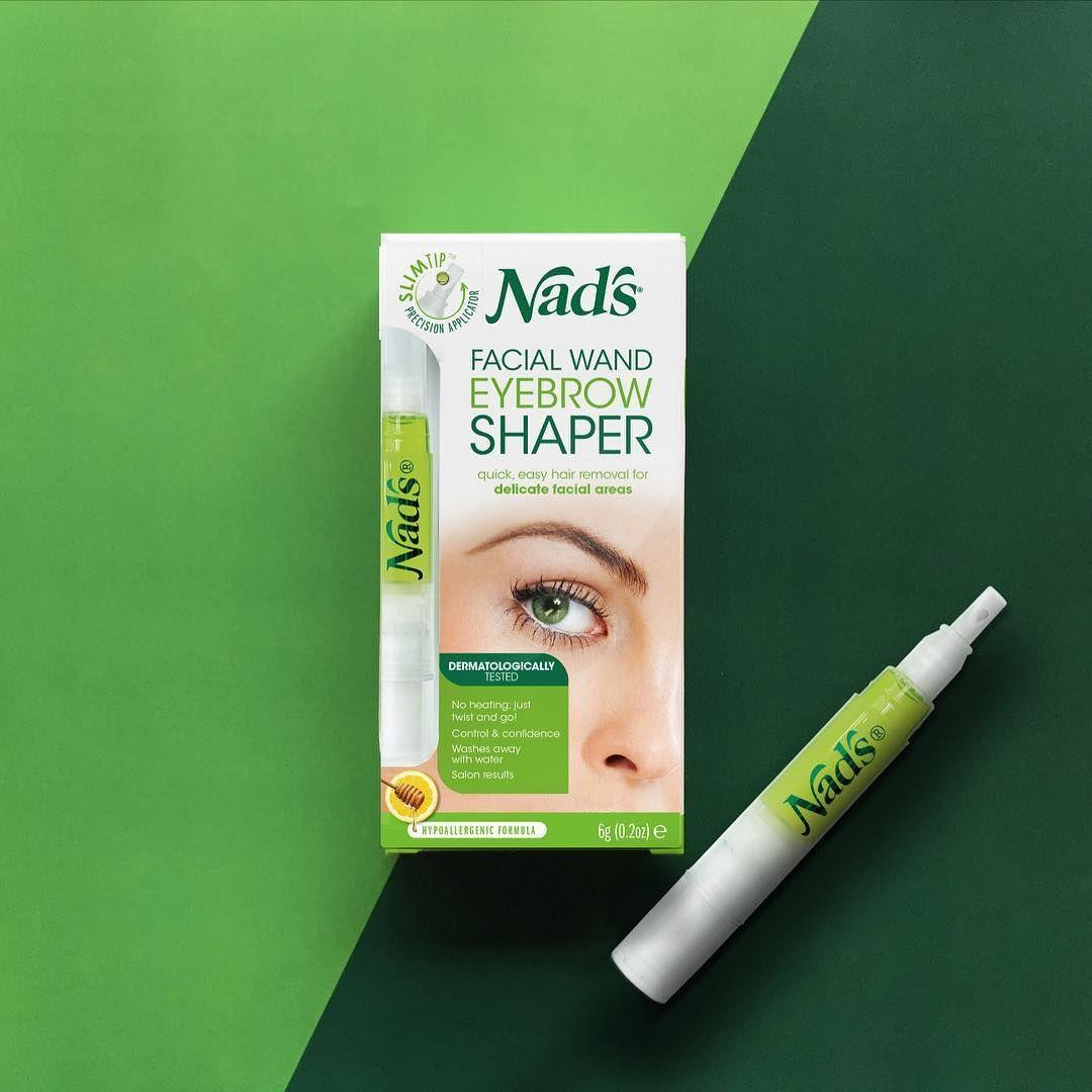Nads Natural Hair Removal Facial Wand Eyebrow Shaper Natural Hair