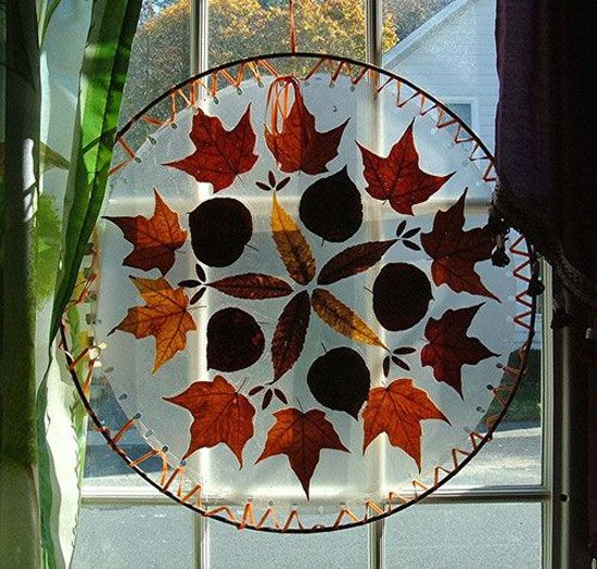 Hojas De Otono Para Decorar Atrapasuenos Autumn Leaves Craft