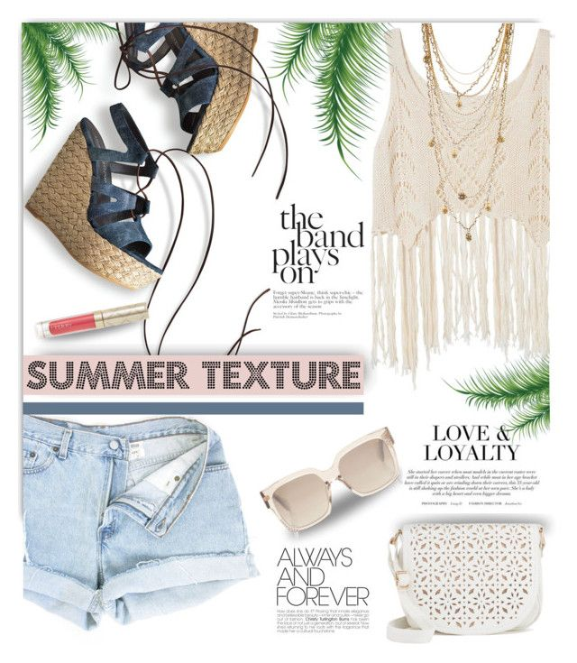 Summer Texture by casuality on Polyvore featuring polyvore fashion style Stuart Weitzman Under One Sky Bee Charming By Terry clothing