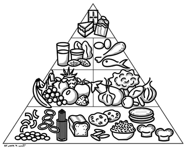 How To Draw Food Pyramid Coloring Pages Download Print Online Coloring Pages For Free Color Nimbus In 2020 Coloring Pages Food Pyramid Cute Coloring Pages