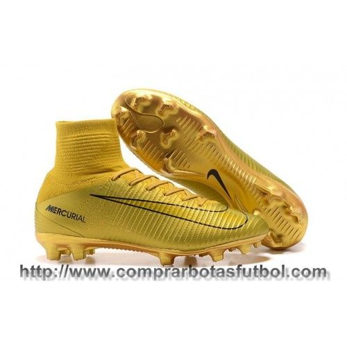 1814a3cc2 Baratas Botas De Futbol Nike Mercurial Superfly V CR7 FG Dorado ...