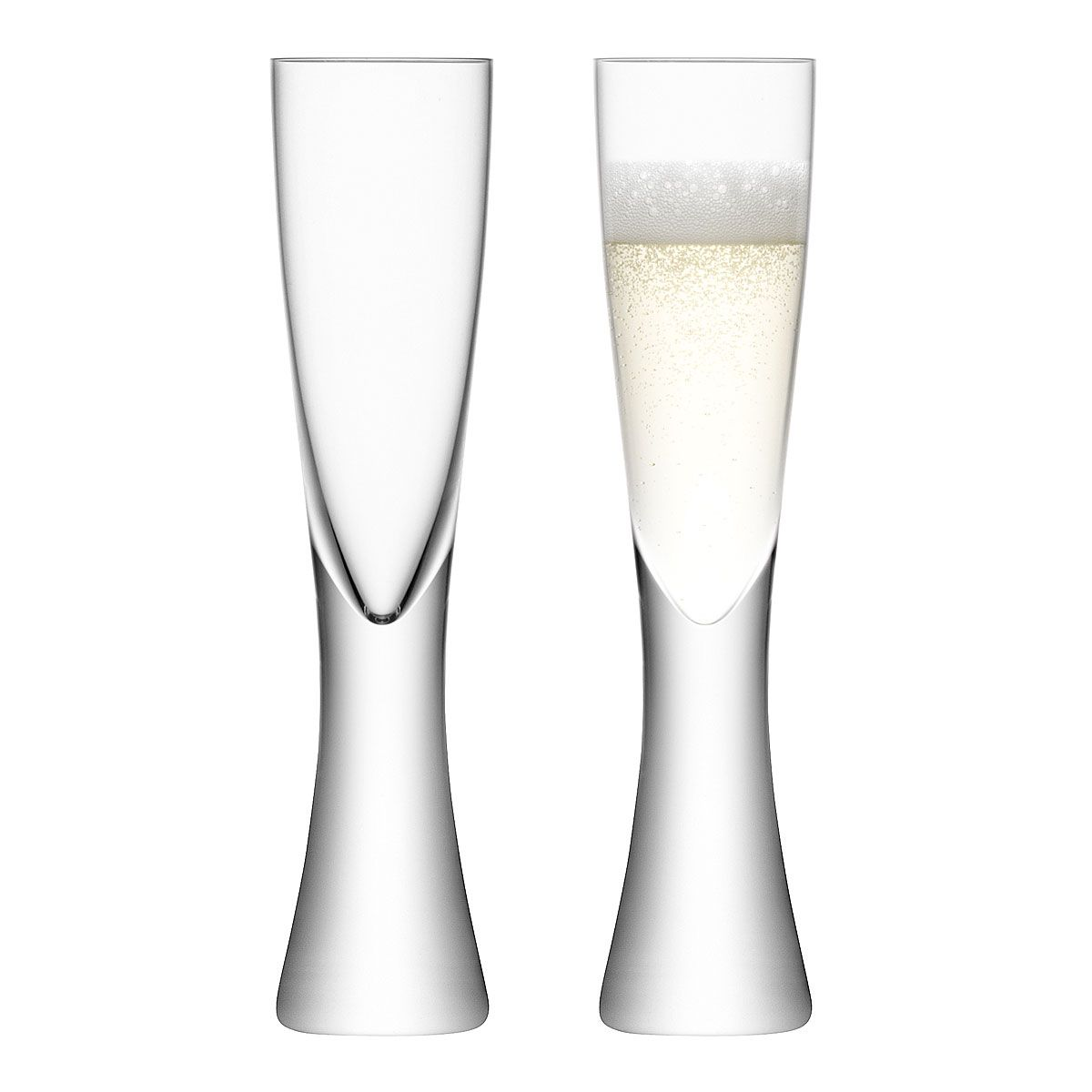 Elina Champagne Flutes Set Of 2 Blown Glass Glasses Uncommongoods Champagne Flute Set Contemporary Champagne Flutes Champagne Flutes