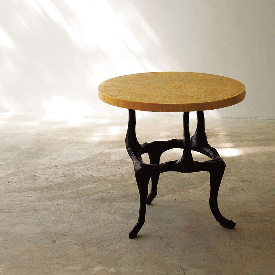 Elegant Alexander Lamont Bronze Shagreen Amaranth Table
