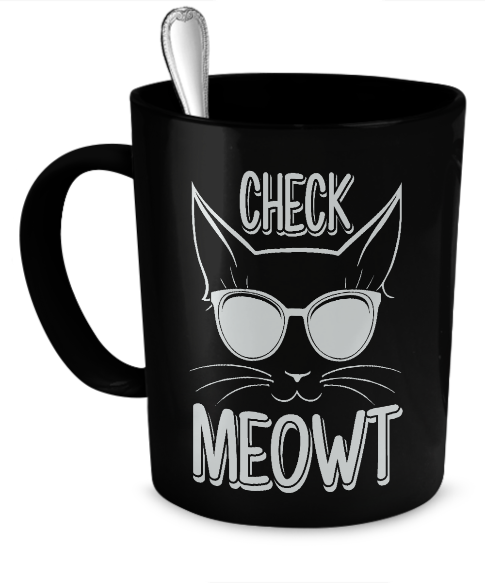 Check Meowt Black Cat Coffee Or Tea Mug Cat coffee