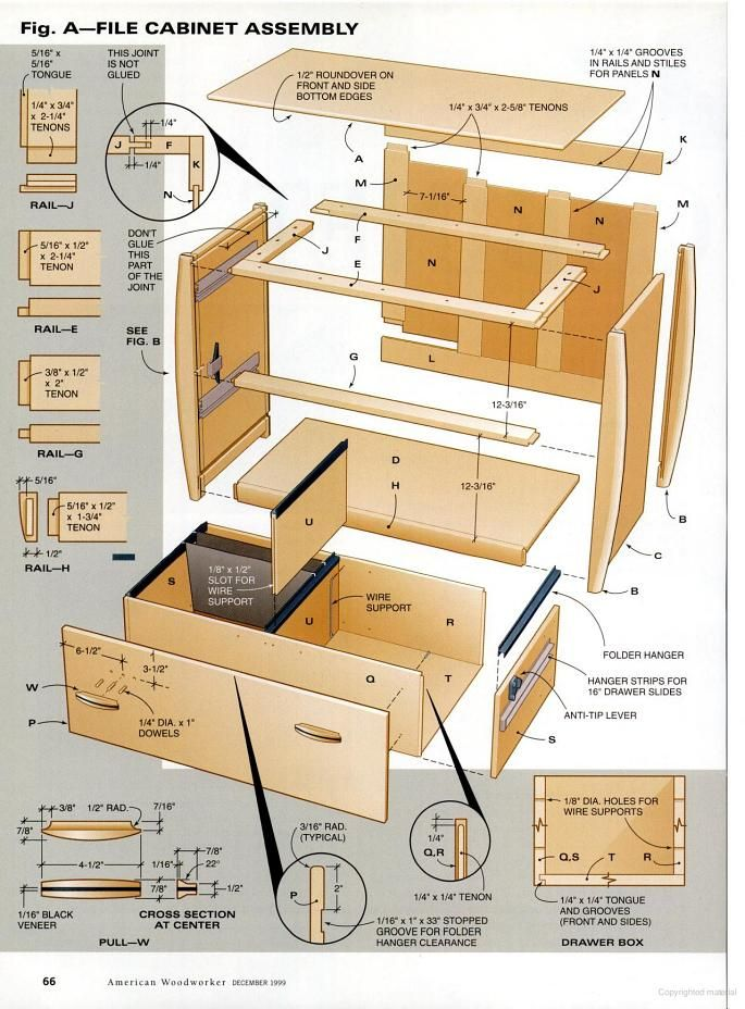 Cabinet Woodworking Plans, Wooden File Cabinet Plans