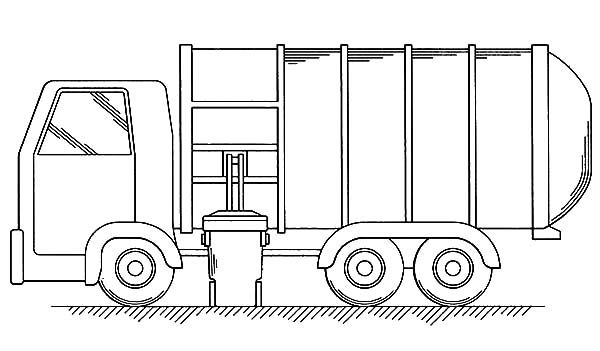 Put All Garbage Inside Truck Coloring Pages   Download ...
