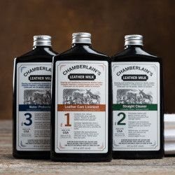 Chamberlain's Leather Milk No. 1 / No. 2 / No. 3 Set /// I want everything I get to last forever! Or at least a very long time. Generations of Gray babies knowing the sweet, sweet smell of good leather and workmanship.