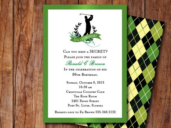golf themed invitation retirement party pinterest golf party