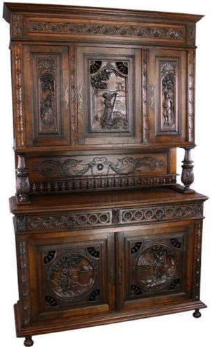french carved brittany buffet server hutch
