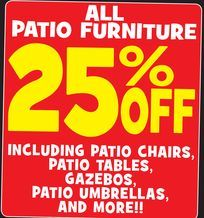 photo regarding Ollies Coupons Printable named ALL Patio Home furnishings against Ollies Discount Outlet Patricia