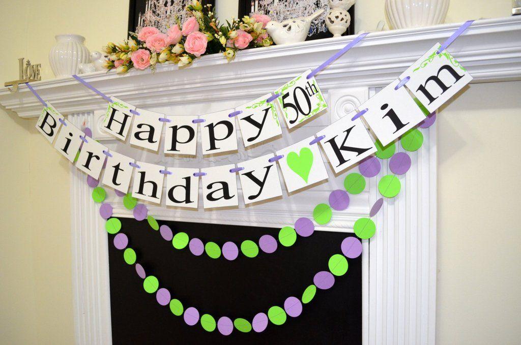 happy 50th birthday personalized birthday name banner custom banner