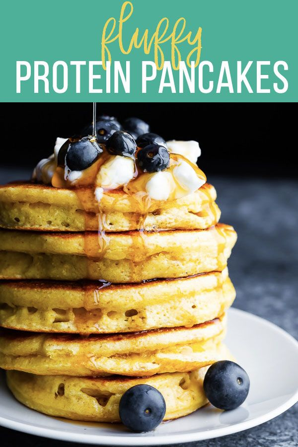Perfect Fluffy Protein Pancakes (no banana!)