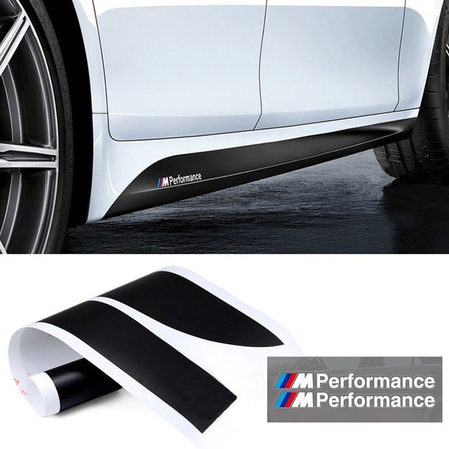 Carstyling M Performance Side Skirt Stripe Sticker Body Decal For - Bmw car decals stickers