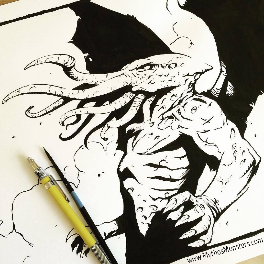Cthulhu - Original Ink Drawing by Jacob Walker. From the adult ...