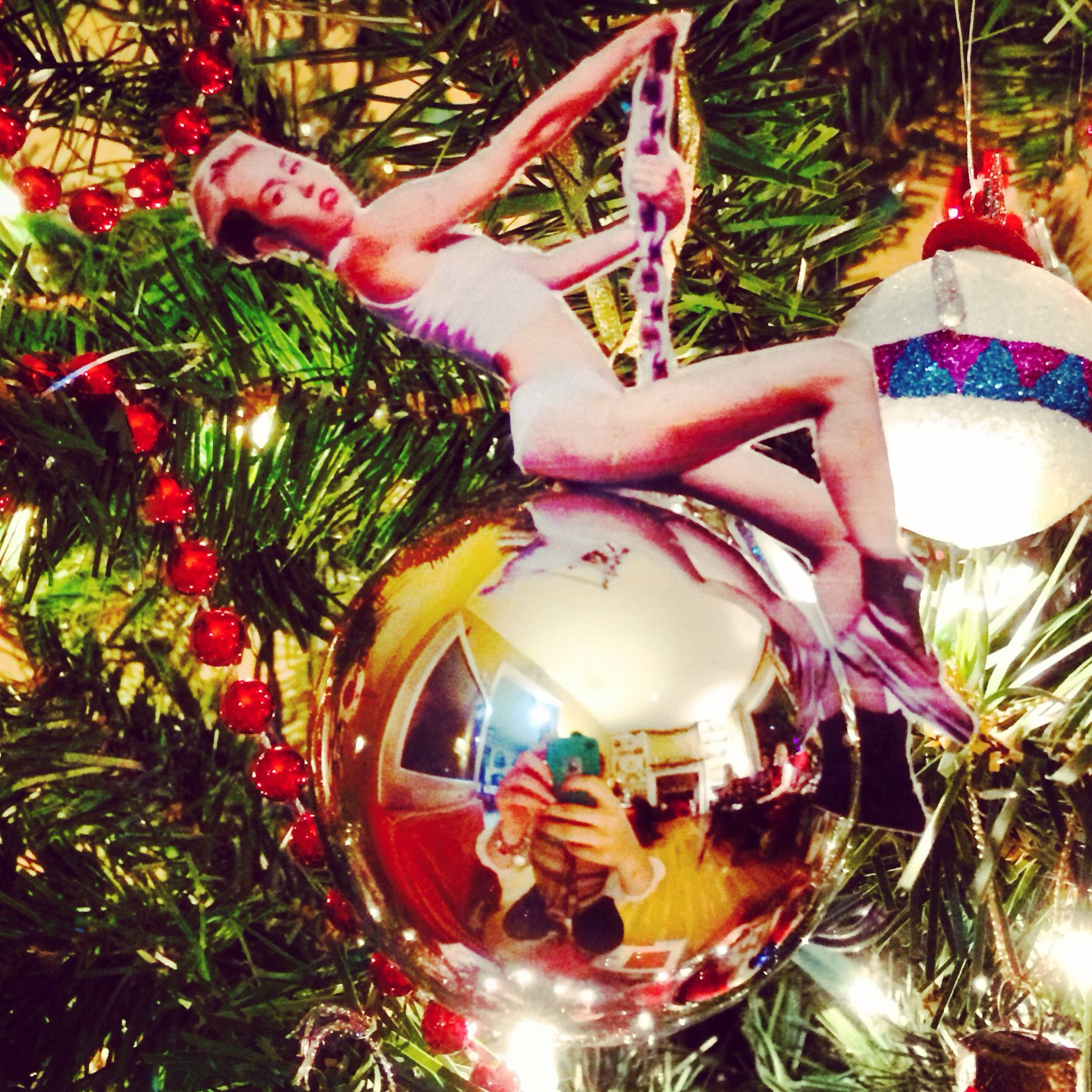 Miley Cyrus Wrecking Ball Christmas Ornament.My Sister Michelle Pietrocola Made The Most Amazing Mikey