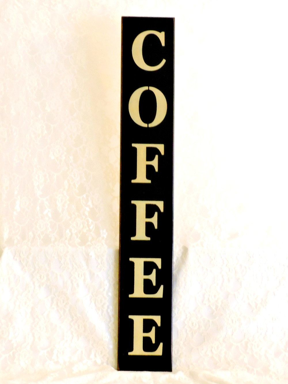 Wall Sign Decor Endearing Coffee  Primitive Country Painted Wall Sign Vertical Sign Design Decoration