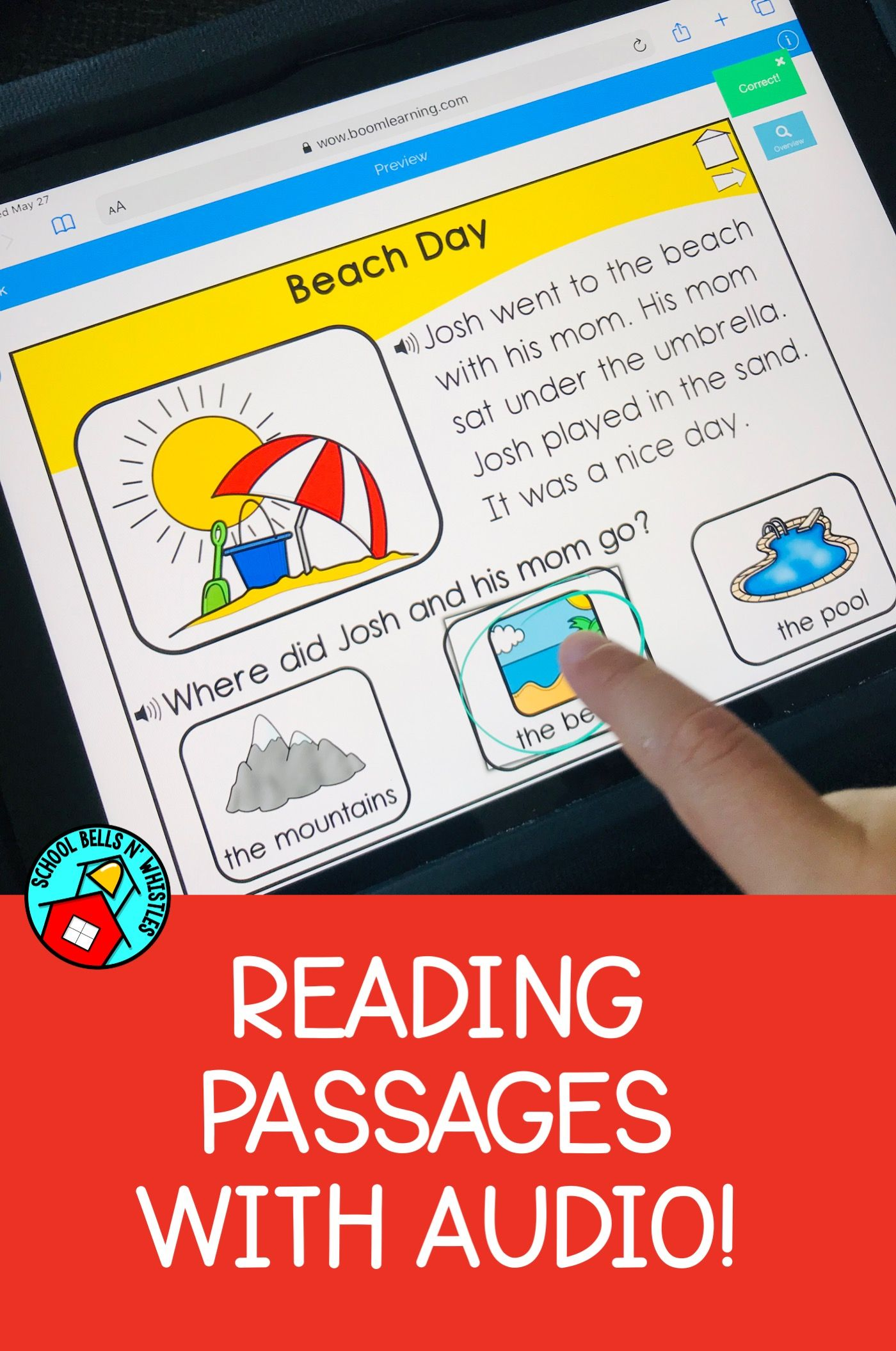 Reading Comprehension Passages Increase Student Independence With Audio Stud Reading Comprehension Reading Comprehension Passages Special Education Classroom [ 2111 x 1400 Pixel ]