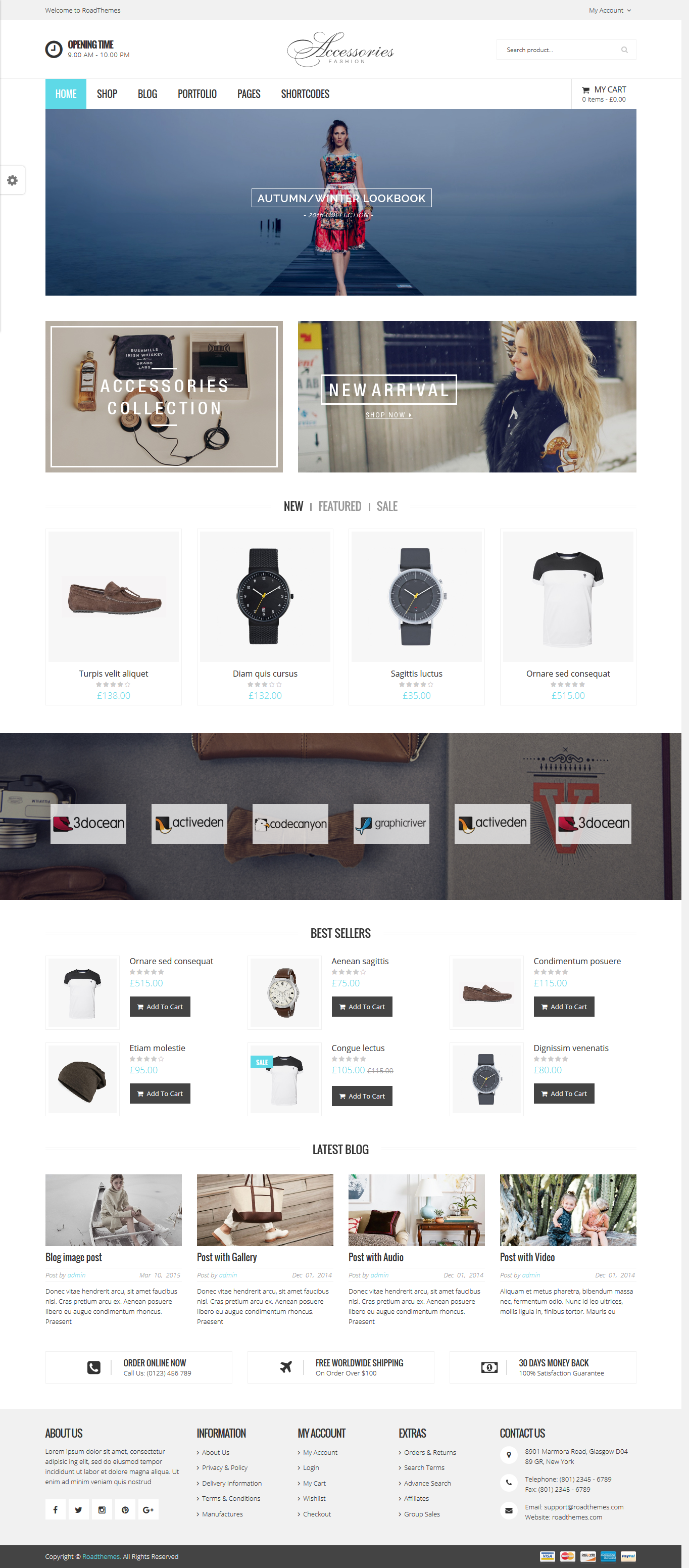 Wooaccessories Responsive Ecommerce Wordpress Theme Live Preview