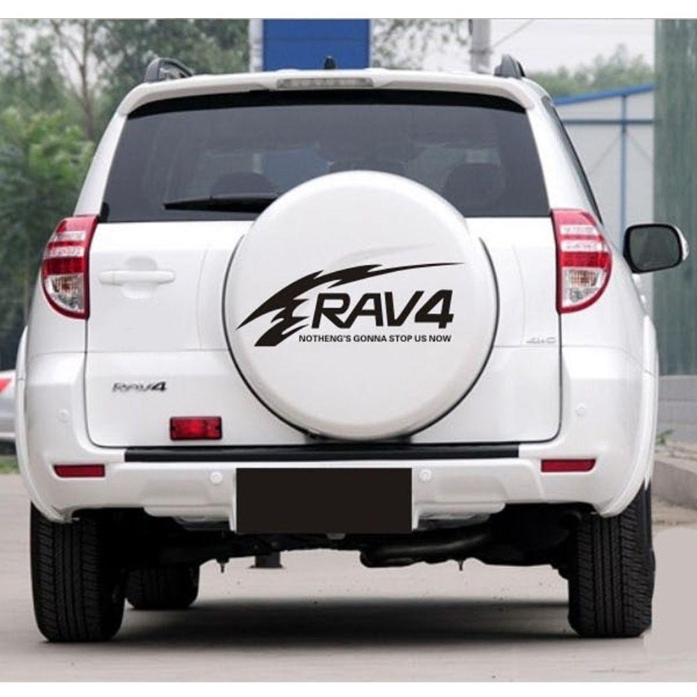 Car styling for toyota rav4 suv sports offroad car tail spare wheel decoration car sticker flower flame lattice car decor olshop