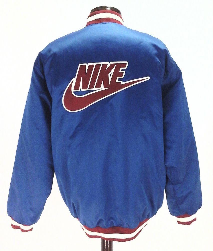 Rare Nike Satin Blue Red White Usa Basketball Vtg Varsity Bomber Jacket Mens L Ebay Link Varsity Bomber Jacket Bomber Jacket Mens Polyester Outer [ 1000 x 851 Pixel ]