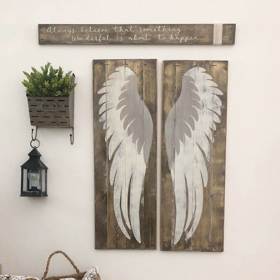 Angel wings large scale wings farmhouse decor