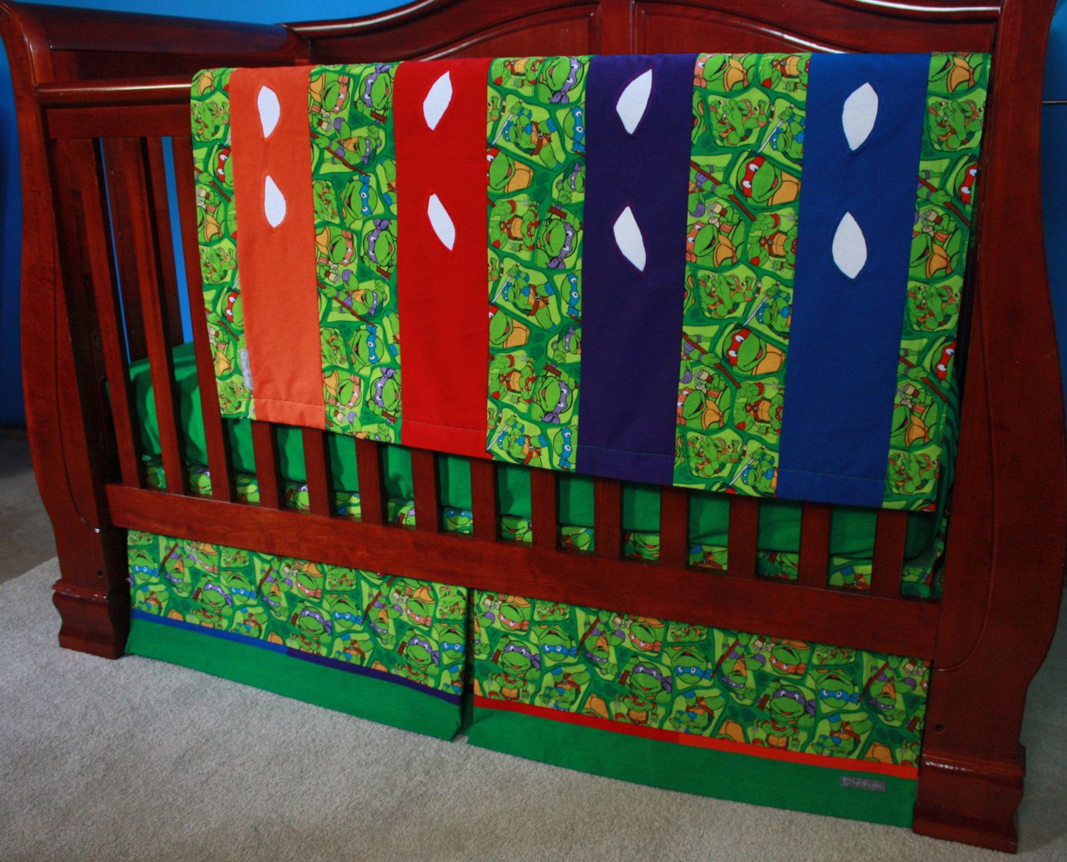 Teenage Mutant Ninja Turtle Baby Bedding By Bedhogshop On Etsy 230 00 Carterleewilder Bebe Gorditas Costura
