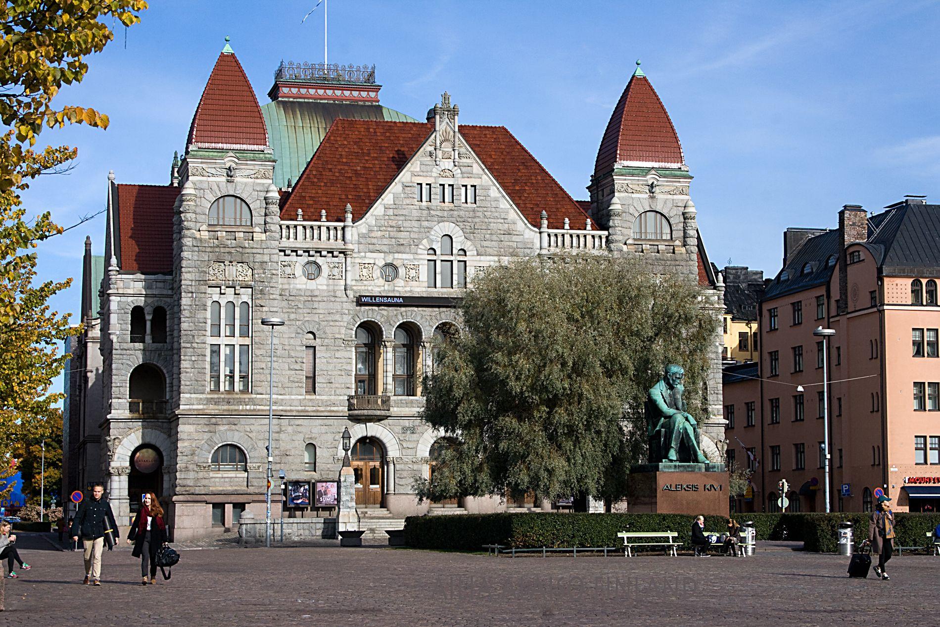 Finnish National Theatre, Suomen Kansallisteatteri perustettu vuonna1872. Helsinki Kuva Aili Alaiso