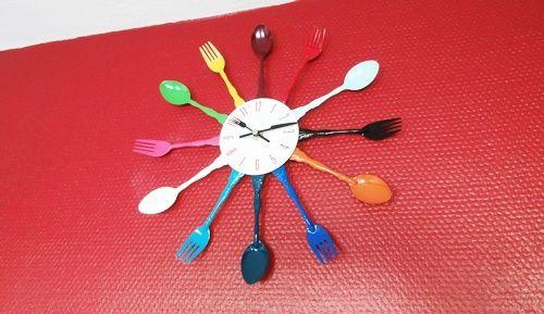 Küche Kitchen Uhr Wanduhr Clock Rot Red Upcycling Pinterest - küchen wanduhren design