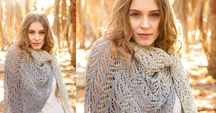 This triangular scarf is feminine and the right choice for a beautiful autumnal ...