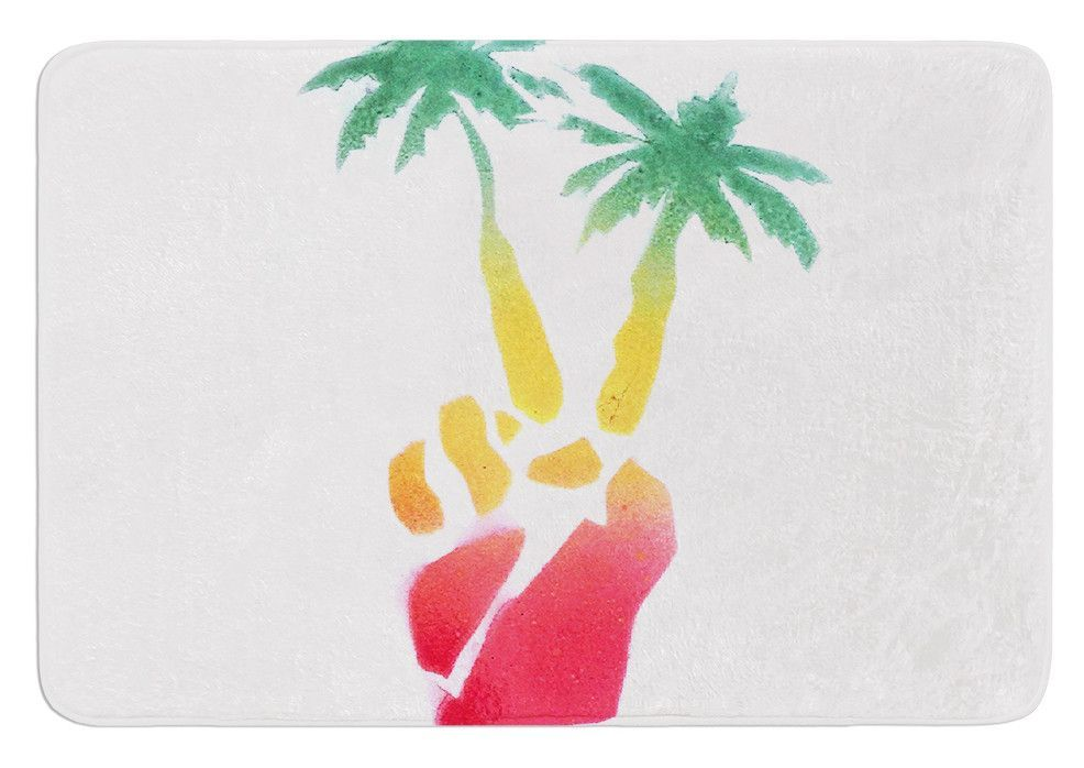 Peace Palms by Infinite Spray Art Bath Mat