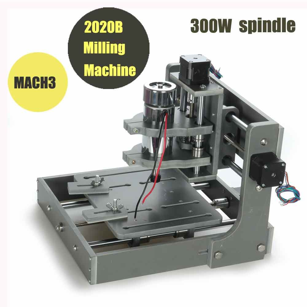 Three heads 3d relief cnc wood router china mainland wood router - Mini Cnc Milling Machine Mach 3 Diy Pcb Milling Machine 2020b For Wood Engraving 300w Spindle