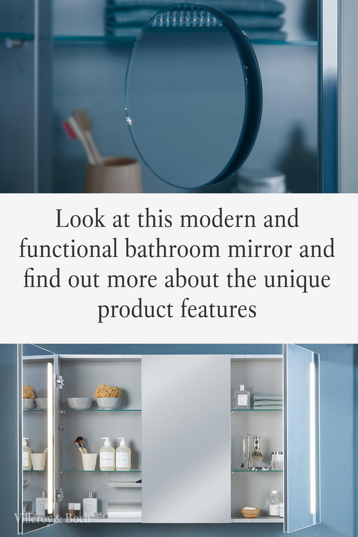 This Bathroom Mirror Cabinet Offers Plenty Of Storage And Additional Features In 2020 Spiegelschrank Badezimmer Badezimmerspiegel