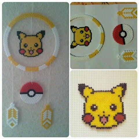 Perles Hama Attrape Rêves Pokémon Pikachu Hama Beads
