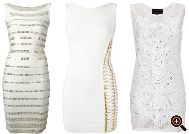 Kleid weiß gold & silber – Cocktailkleider, Abendkleider ...