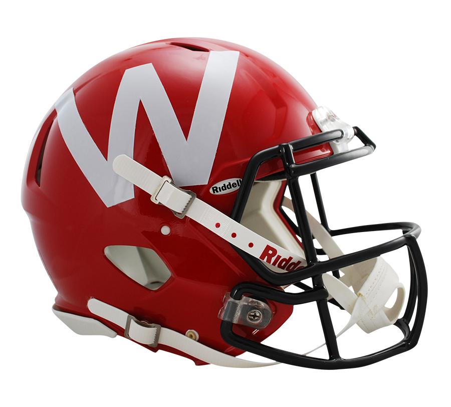 Wisconsin Badgers Authentic Red Full Size Speed Helmet By Riddell Game Day Treasures Football Helmets Badger Football Wisconsin Badgers Football