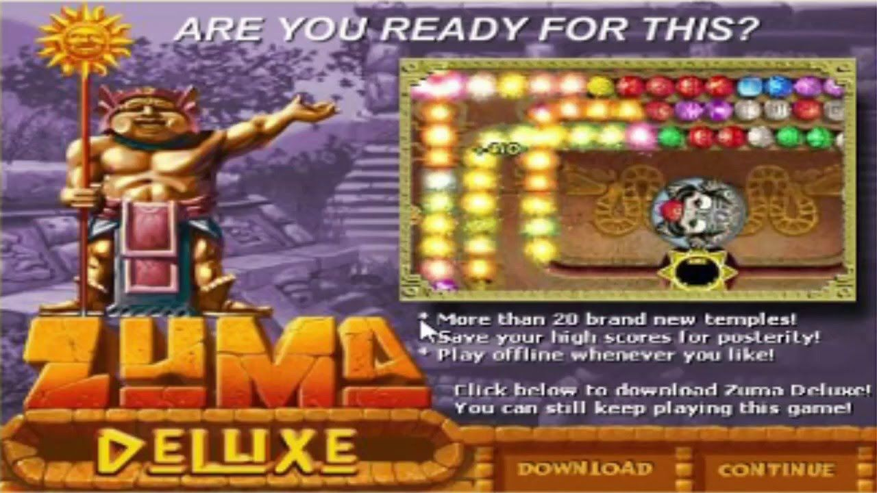 People who love puzzle games will fall in love with Zuma