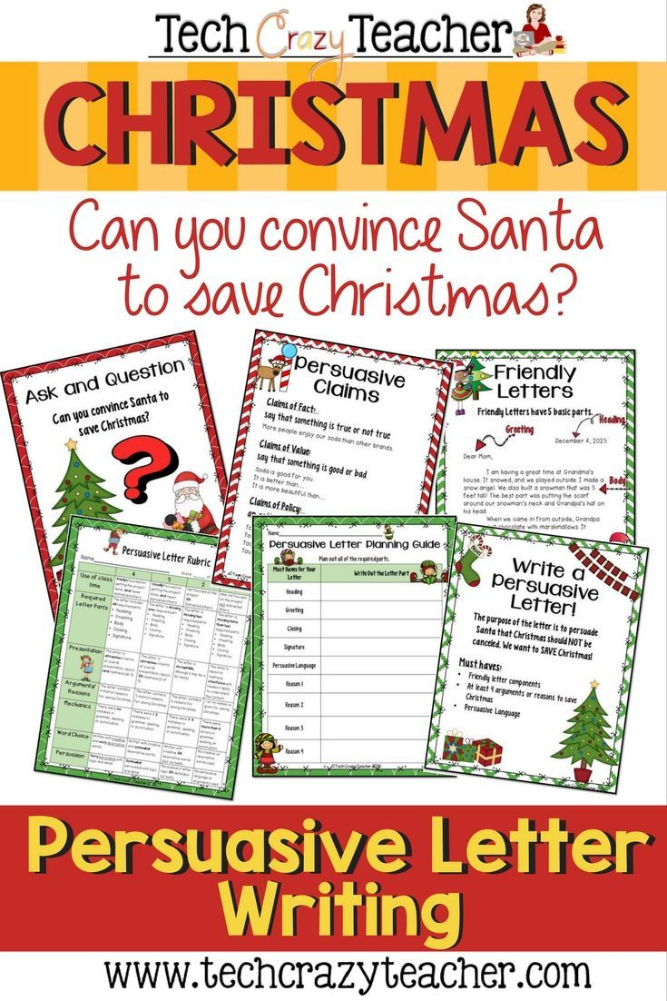 christmas persuasive letter writing project | holidays | pinterest