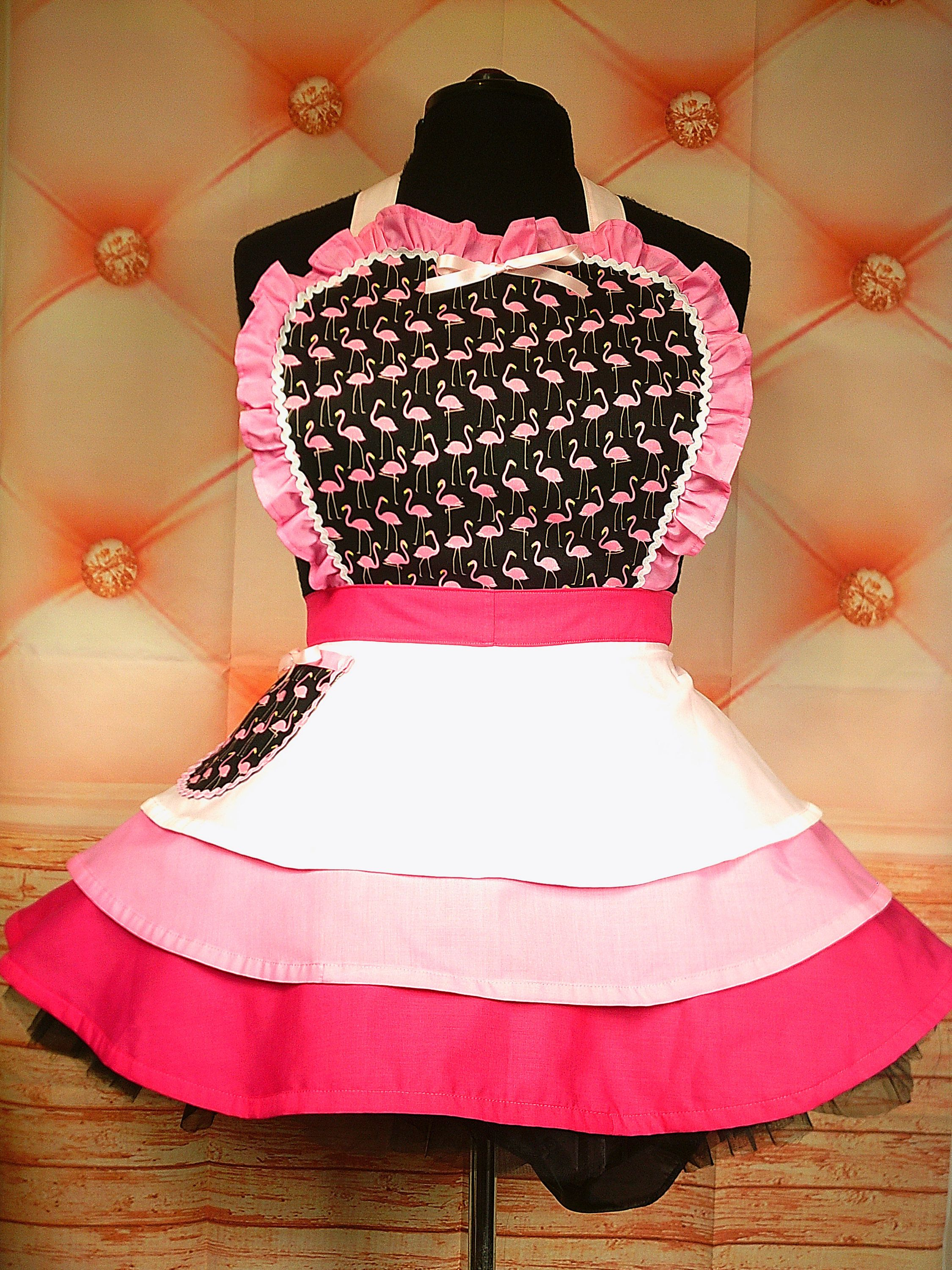 Halloween Orange and Pink Adult Apron ready to ship