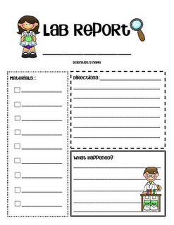monitoring and evaluation report writing template - perfect little lab report for simple science experiments