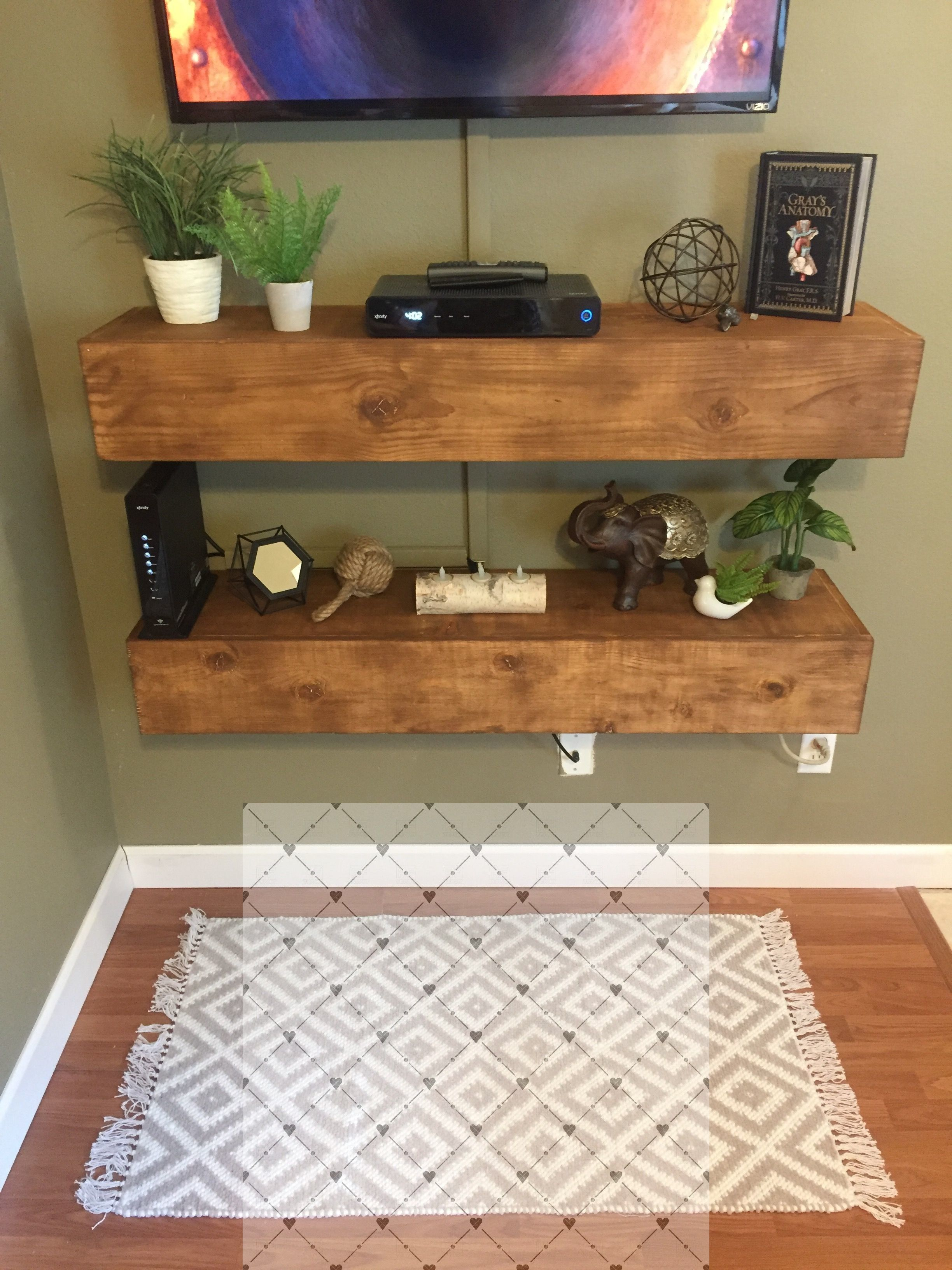 Easy And Cheap Tips Floating Shelf Placement Tv Stands Floating Shelves Around Tv M Floating Shelves Living Room Floating Shelf Decor Floating Shelves Kitchen